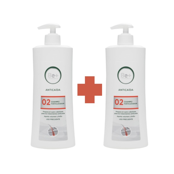 Be+ champu anticaida 500ml duplo