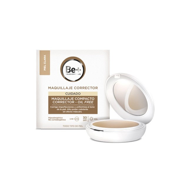 Be+ maquillaje compacto corrector oil-free piel clara