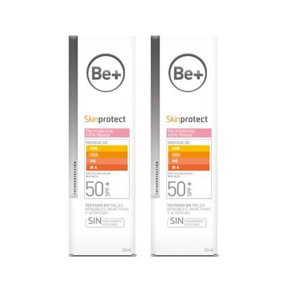 Be+ Skin Protect Piel Intolerante 100% Mineral SPF50+ Duplo 50ml+50ml