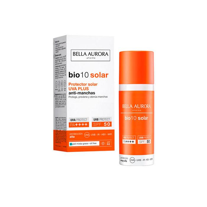 Bella Aurora Bio10 Protector Solar Uva Plus Antimanchas Spf50+ Piel Mixta y Grasa 50ml