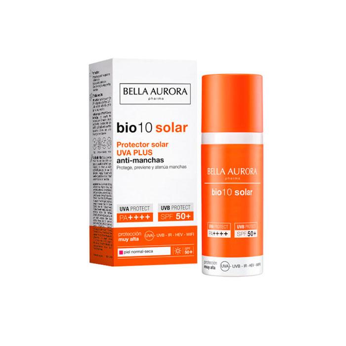 Bella Aurora Bio10 Protector Solar Uva Plus Antimanchas Spf50+ Piel Normal y Seca 50ml