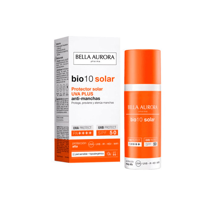 Bella Aurora Bio10 Protector Solar Uva Plus Antimanchas Spf50+ Piel Sensible 50ml