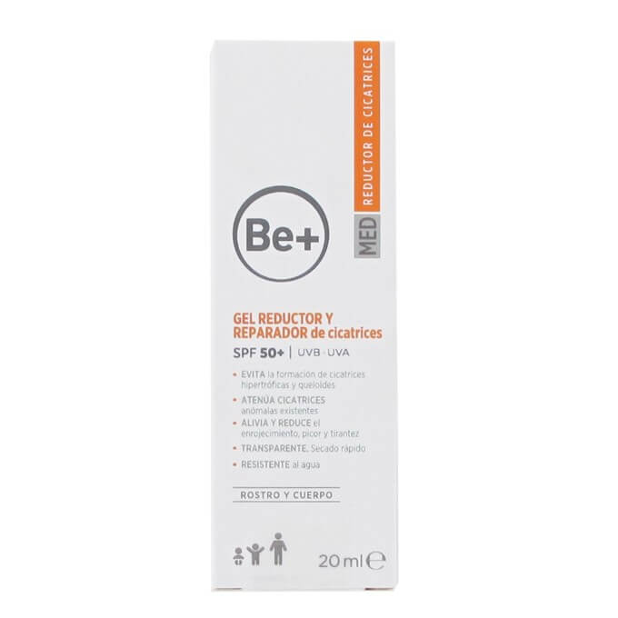 Be+ Gel Reductor Reparador de Cicatrices SPF50+ 20 ml