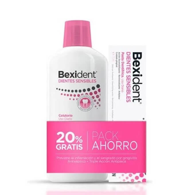 Bexident Pack Dientes Sensibles Colutorio 500ml + Pasta 75ml