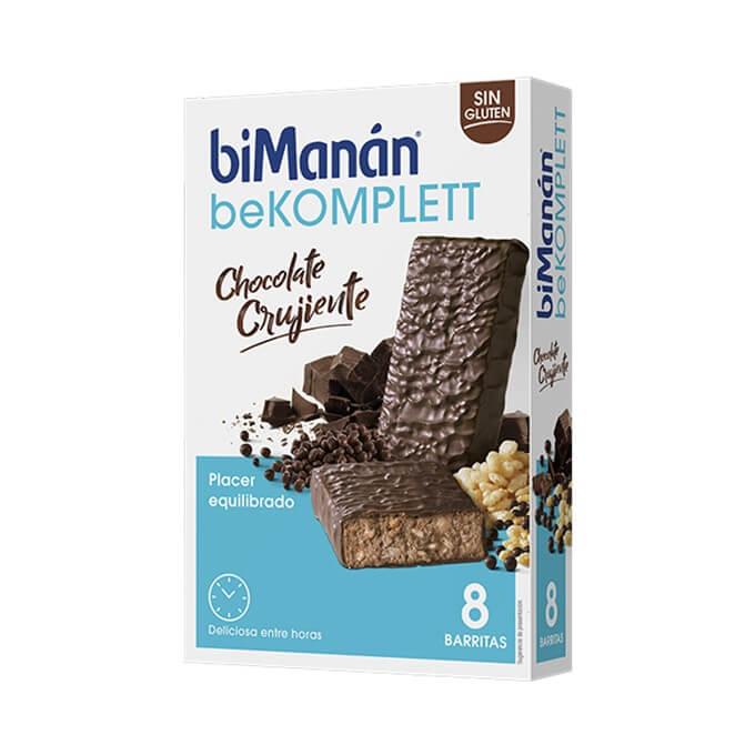 Bimanan Barritas Bekomplett Chocolate Crujiente 8 Uds