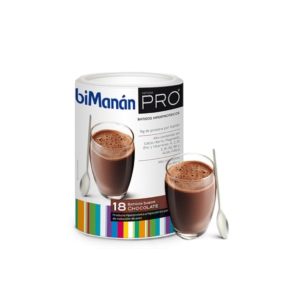Bimanan pro batido hiperproteico sabor chocolate 540 g