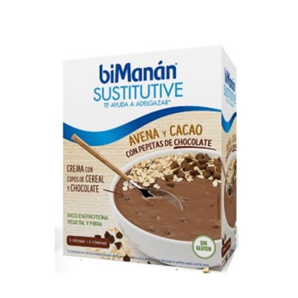 Bimanan Sustitutive Avena y Cacao con Pepitas de Chocolate 5 Cremas