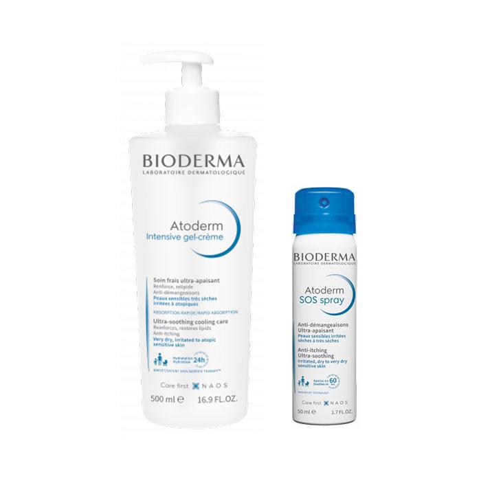 Bioderma Atoderm Intensive Gel Crema 500ml + Atoderm Sos Spray 50ml