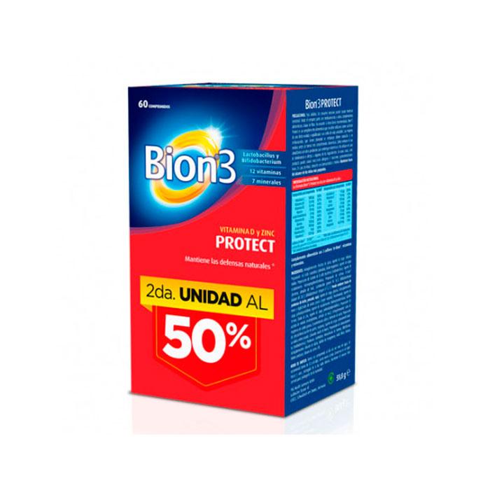 Bion3 Protect Vitamina D y Zinc 60 Comprimidos