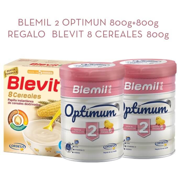 Blemil Optimum Duplo 800g+800g + Blevit 8 Cereales 600g