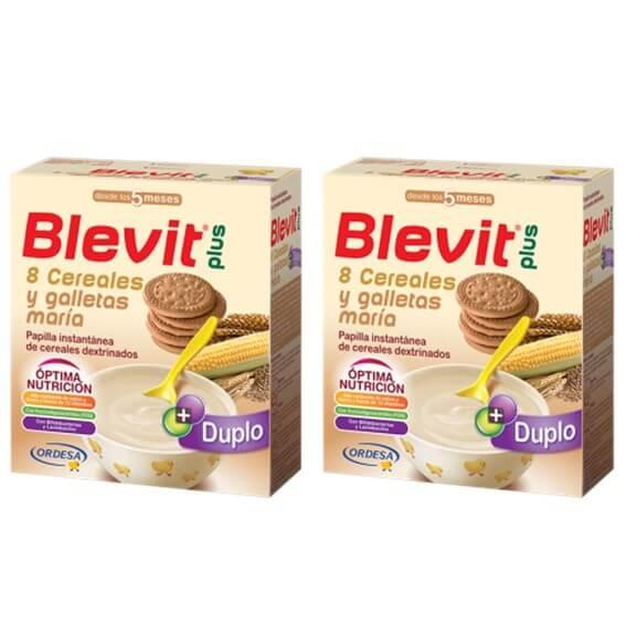 Blevit Plus 8 Cereales Galletas Maria Duplo 600g+600g