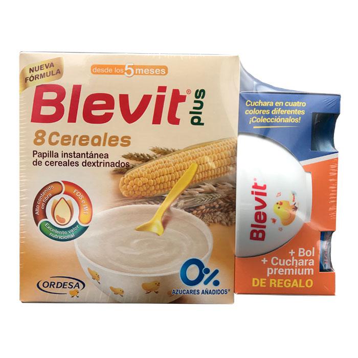 Blevit Plus 8 Cereales 600g + Regalo Bol y Cuchara Premium