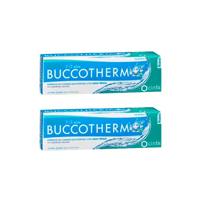 Buccotherm Gel Dental Junior 7-12 Años Duplo 50ml+50ml