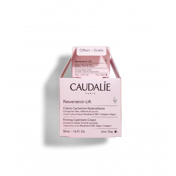 Caudalie Resveratrol Lift Crema Cachemir Redensificante 50ml + Regalo Crema Tisana de Noche 15ml