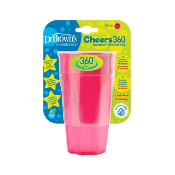 Dr brown´s vaso cheers 360 rosa 300 ml