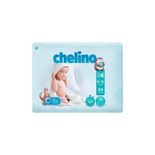 Pañal Chelino Talla 4 (9-15 Kg) 34 Unidades