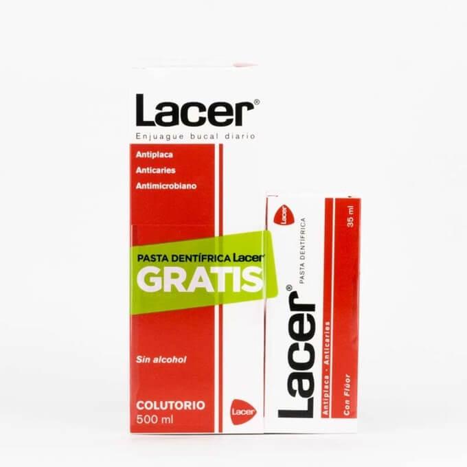 Lacer colutorio 500 ml + Pasta Lacer 35 ml
