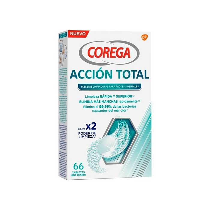 Corega Accion Total 66 Tabletas Limpiadoras