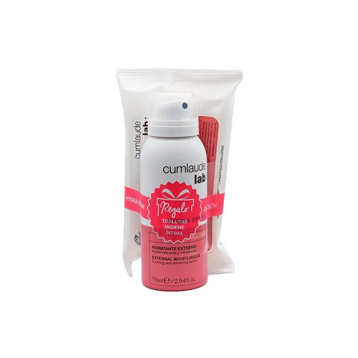 Cumlaude Hydra Spray Emulsion Hidratante Externo 75ml + Regalo Toallitas Higiene Intima
