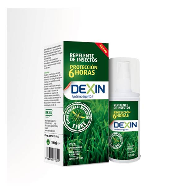 Dexin antimosquitos repelente de insectos spray 100ml