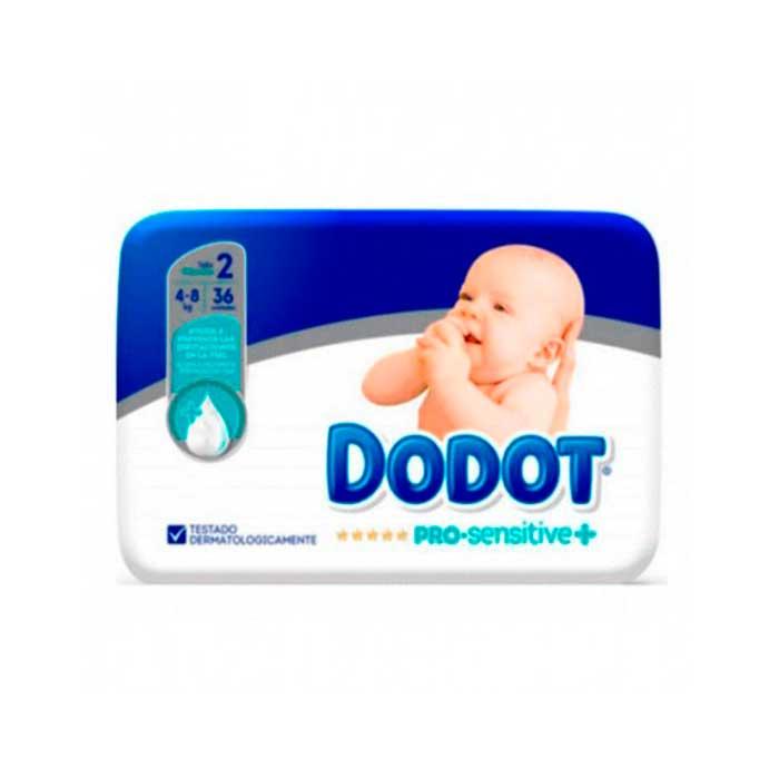 Dodot Pro Sensitive Talla 2 36 Ud 4-8kg