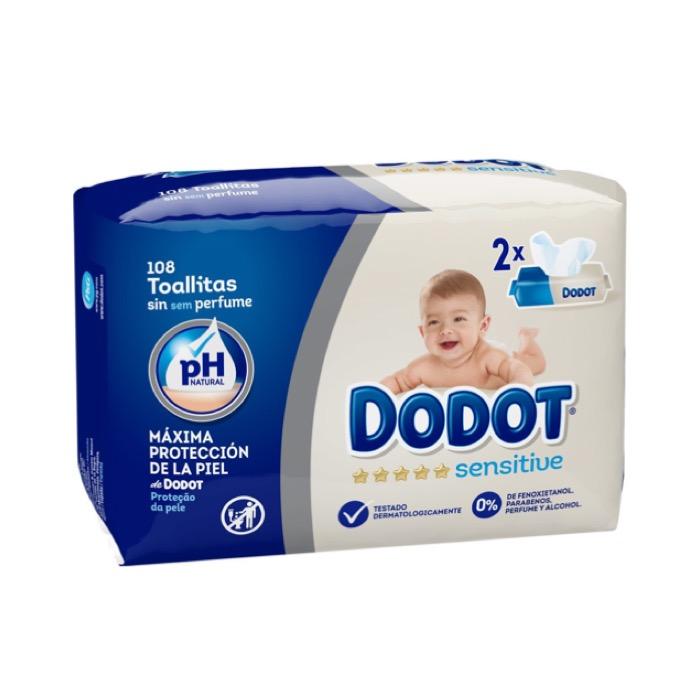 Dodot sensitive 108 toallitas
