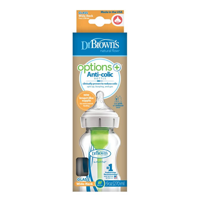 Dr Brown´s Biberon Anticolico Options Plus Cristal 270 ml