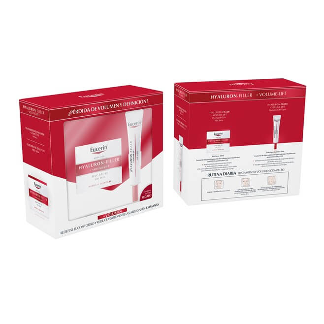 Eucerin Pack Hyaluron Filler Volume Lift Piel Seca 50ml + Contorno Ojos 15ml