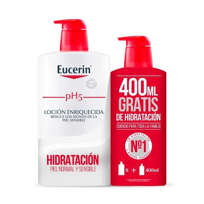 Eucerin Locion Enriquecida Family Pack 1000ml+400ml