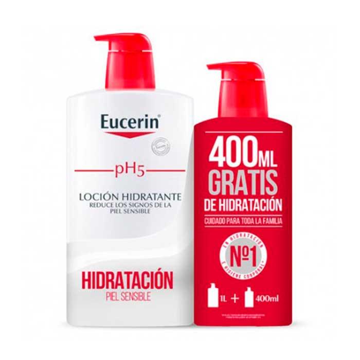 Eucerin Locion Hidratante Family Pack 1000ml+400ml