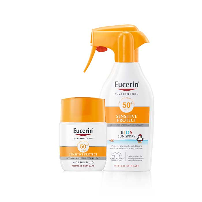 Eucerin Sensitive Protect Pediátrico Spray Spf50 300ml + Regalo Kids Sun Fluid 50ml