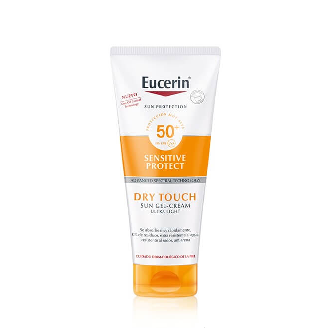 Eucerin Sensitive Protect Toque Seco Gel-cream Ultra Llight Spf50+ 200ml