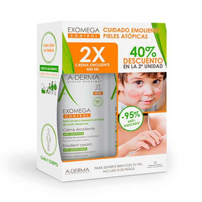 A-derma Exomega Control Crema Emoliente Duplo 400ml+400ml