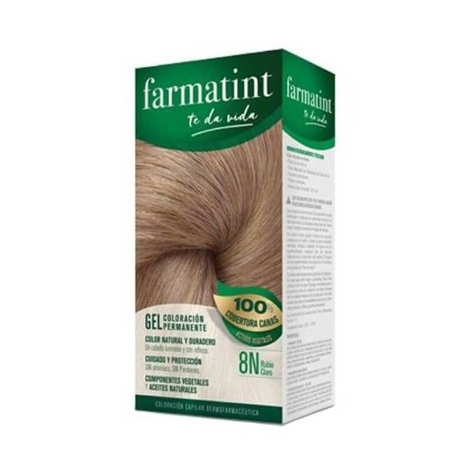 Farmatint 8N Gel Rubio Claro 135 ml