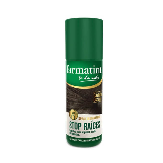 Farmatint Spray Stop Raices Castaño Oscuro 75 ml
