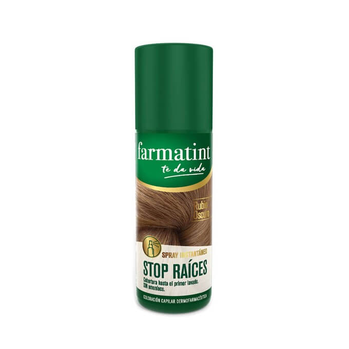 Farmatint Spray Stop Raices Rubio Oscuro 75 ml