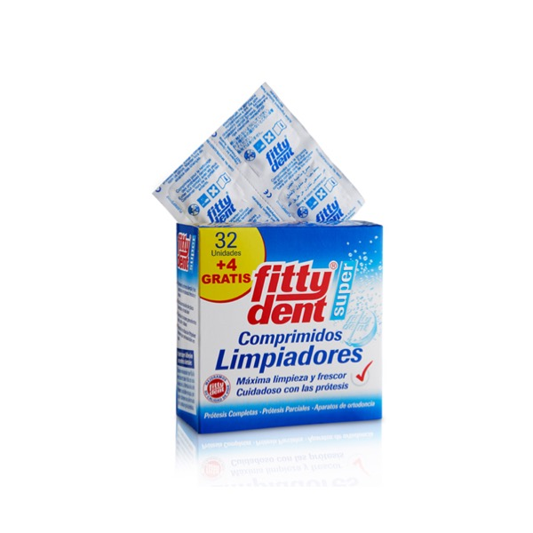 Fittydent Limpiador 32 + 4 Comprimidos