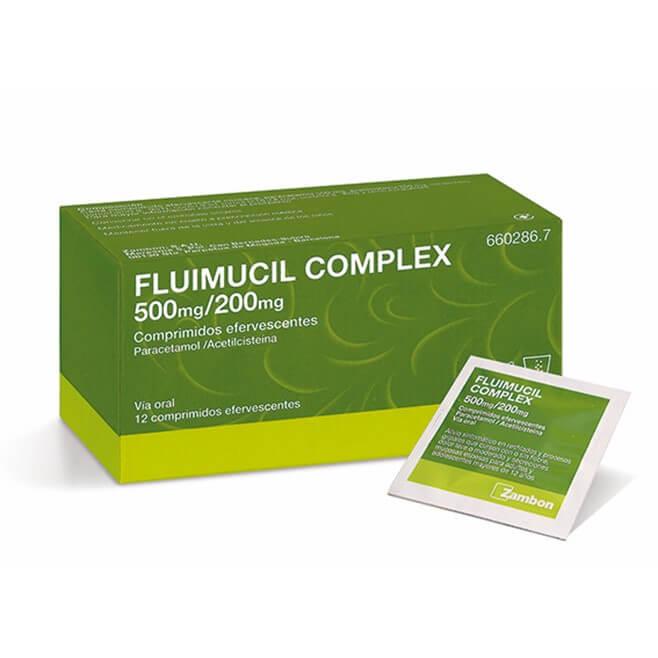 Fluimucil Complex 500mg/200mg 12 Comprimidos Efervescentes