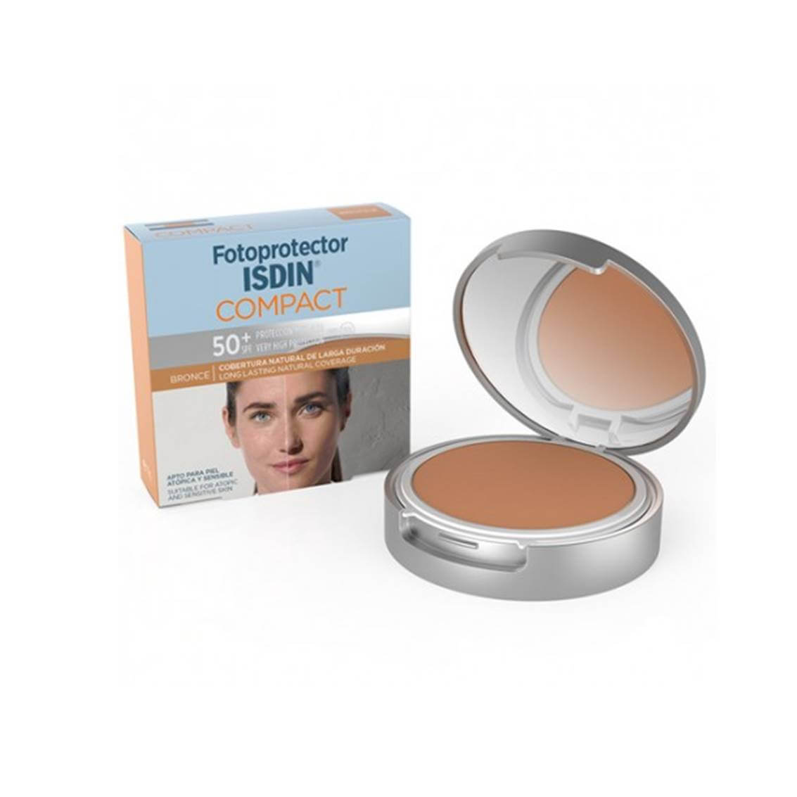 Fotoprotector isdin 50+ maq compacto bronce 10 g