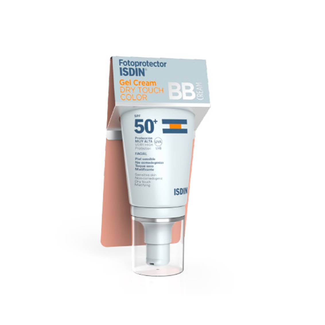 Fotoprotector Isdin Gel Crema Toque Seco Color Spf 50 50 ml