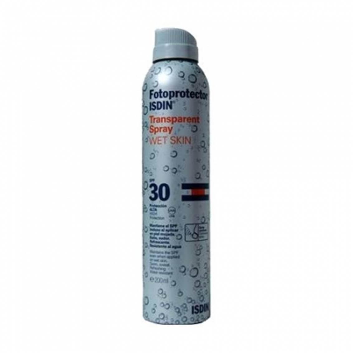 Fotoprotector isdin wet skin spray spf 30 200 ml