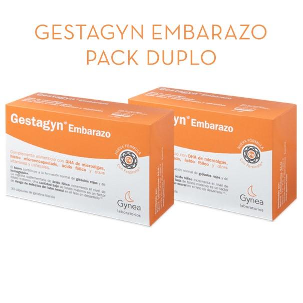 Gestagyn embarazo pack duplo 30+30 capsulas