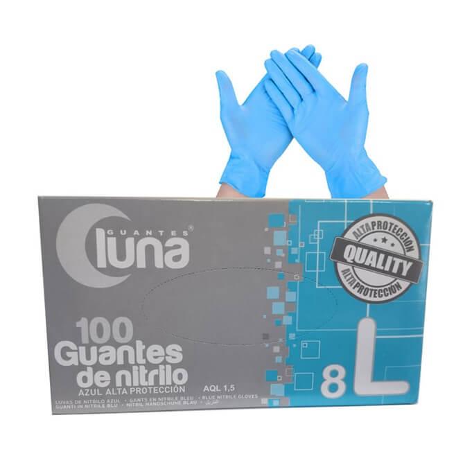 Guantes Nitrilo Azul Talla l 100 Uds