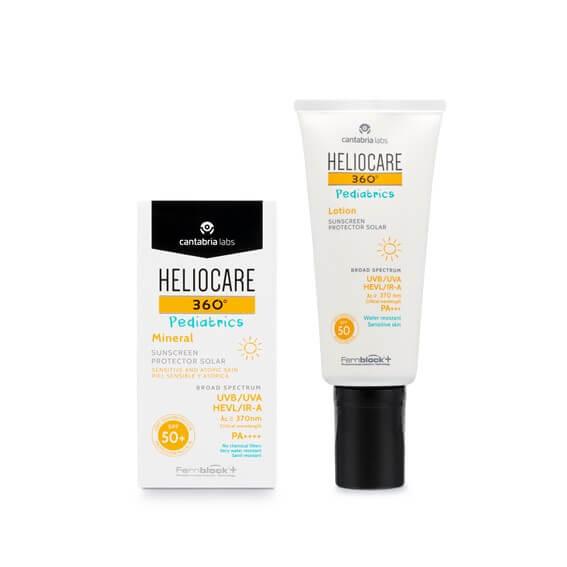 Heliocare 360 Pack Pediatrics Mineral Spf50+ 50ml + Lotion Protector Solar Spf50 200ml