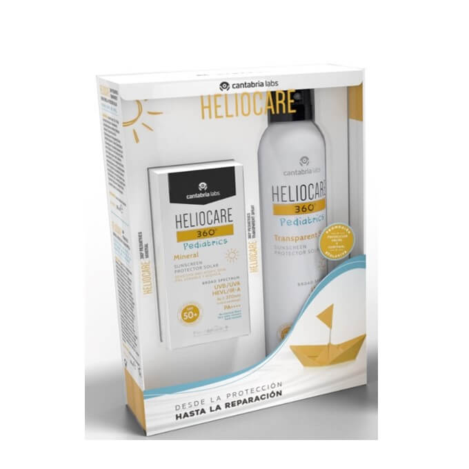 Heliocare 360 Pack Pediatrics Mineral Spf50 + Spray Pediatric Transparente Spf50