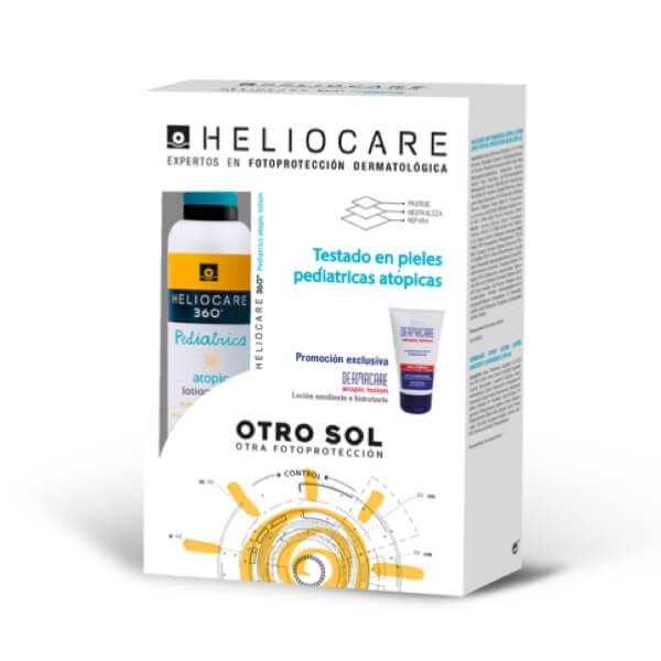 Heliocare pediatrics atopic lotion 200 ml + dermacare locion 100 ml