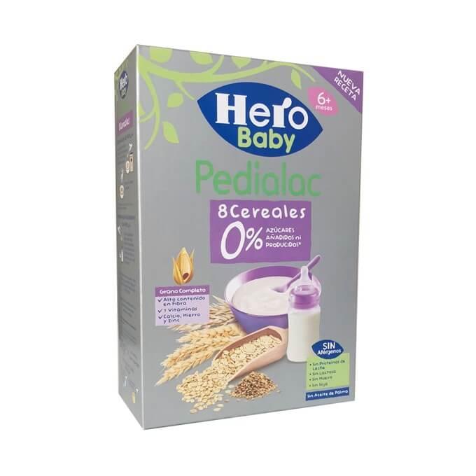 Hero Pedialac 8 Cereales 0% Azucares Añadidos 340g
