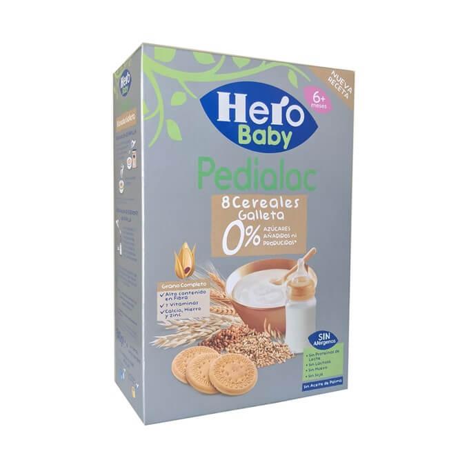 Hero Pedialac 8 Cereales Galleta 0% Azucares Añadidos 340g