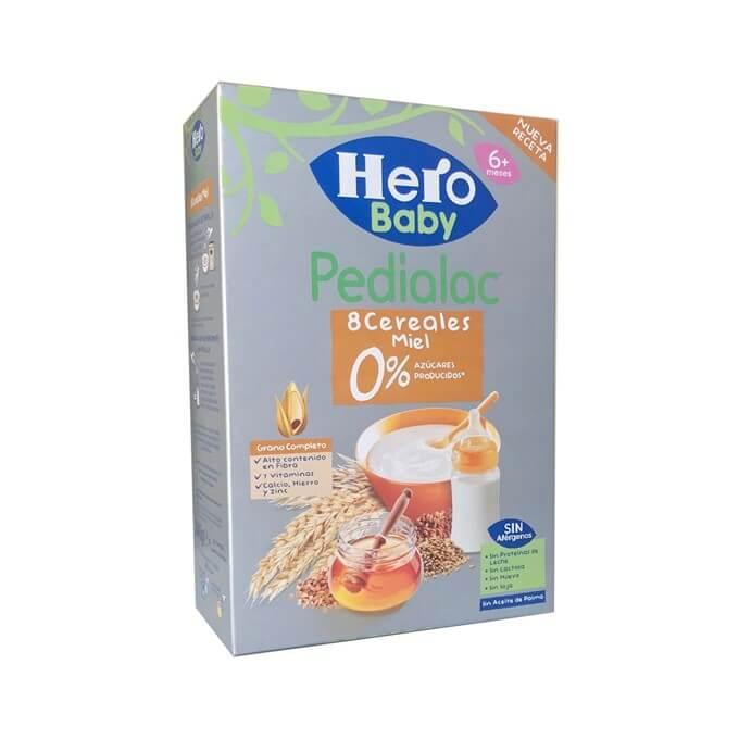 Hero Pedialac 8 Cereales Miel 0% Azucares Añadidos 340g