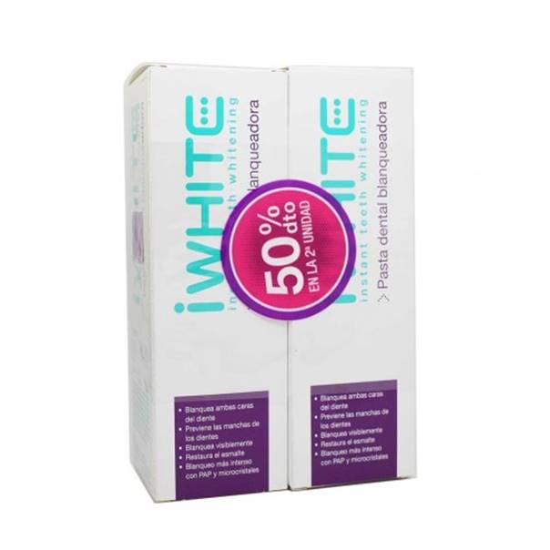 Iwhite pasta dental blanqueadora duplo 75ml+75ml